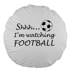 Football Fan  Large 18  Premium Flano Round Cushions by Valentinaart