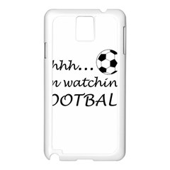 Football Fan  Samsung Galaxy Note 3 N9005 Case (white) by Valentinaart