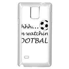Football Fan  Samsung Galaxy Note 4 Case (white) by Valentinaart
