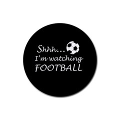 Football Fan  Rubber Coaster (round)