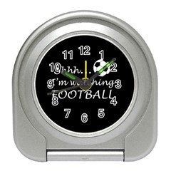 Football Fan  Travel Alarm Clocks by Valentinaart