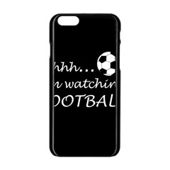 Football Fan  Apple Iphone 6/6s Black Enamel Case by Valentinaart