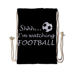 Football Fan  Drawstring Bag (small) by Valentinaart