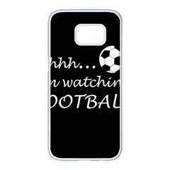 Football Fan  Samsung Galaxy S7 Edge White Seamless Case by Valentinaart