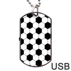 Football Dog Tag Usb Flash (one Side) by Valentinaart