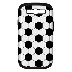 Football Samsung Galaxy S Iii Hardshell Case (pc+silicone) by Valentinaart