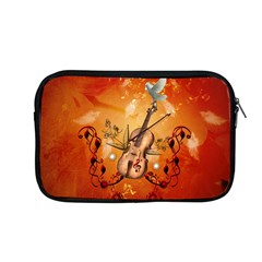 Violin With Violin Bow And Dove Apple Macbook Pro 13  Zipper Case by FantasyWorld7