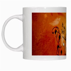 Violin With Violin Bow And Dove White Mugs by FantasyWorld7
