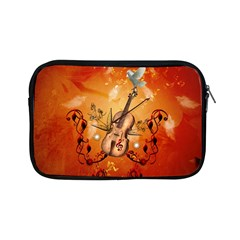 Violin With Violin Bow And Dove Apple Ipad Mini Zipper Cases by FantasyWorld7