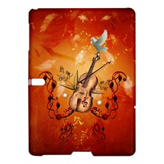 Violin With Violin Bow And Dove Samsung Galaxy Tab S (10 5 ) Hardshell Case  by FantasyWorld7
