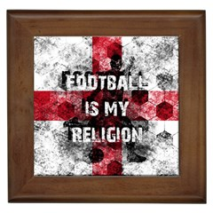Football Is My Religion Framed Tiles by Valentinaart