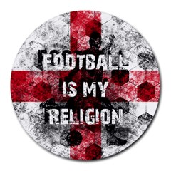 Football Is My Religion Round Mousepads by Valentinaart