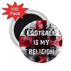 Football Is My Religion 2 25  Magnets (100 Pack)