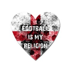 Football Is My Religion Heart Magnet by Valentinaart