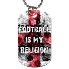 Football Is My Religion Dog Tag (one Side) by Valentinaart