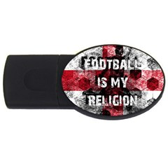 Football Is My Religion Usb Flash Drive Oval (2 Gb) by Valentinaart
