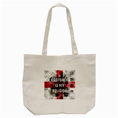 Football Is My Religion Tote Bag (cream) by Valentinaart