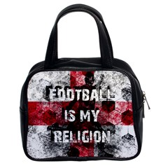 Football Is My Religion Classic Handbags (2 Sides) by Valentinaart
