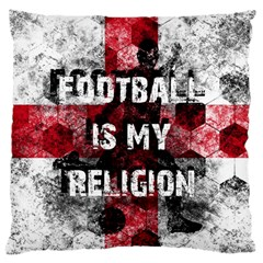 Football Is My Religion Large Cushion Case (two Sides) by Valentinaart