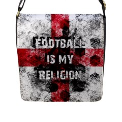 Football Is My Religion Flap Messenger Bag (l)  by Valentinaart