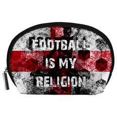 Football Is My Religion Accessory Pouches (large)