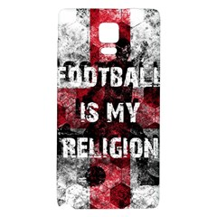 Football Is My Religion Galaxy Note 4 Back Case by Valentinaart