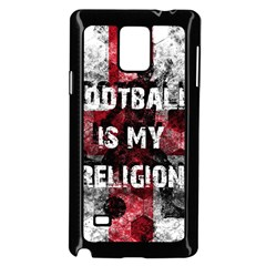 Football Is My Religion Samsung Galaxy Note 4 Case (black) by Valentinaart