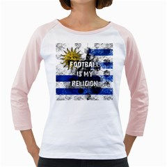 Football Is My Religion Girly Raglans