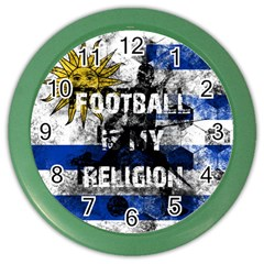 Football Is My Religion Color Wall Clocks