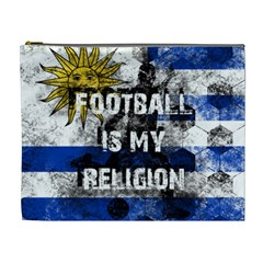 Football Is My Religion Cosmetic Bag (xl) by Valentinaart