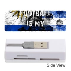 Football Is My Religion Memory Card Reader (stick)  by Valentinaart