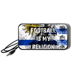 Football Is My Religion Portable Speaker by Valentinaart