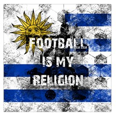 Football Is My Religion Large Satin Scarf (square)