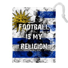 Football Is My Religion Drawstring Pouches (xxl) by Valentinaart