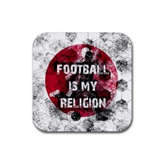 Football Is My Religion Rubber Coaster (square)  by Valentinaart