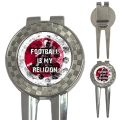 Football Is My Religion 3 In 1 Golf Divots by Valentinaart