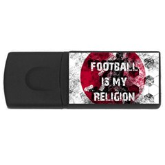 Football Is My Religion Rectangular Usb Flash Drive
