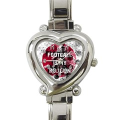 Football Is My Religion Heart Italian Charm Watch by Valentinaart