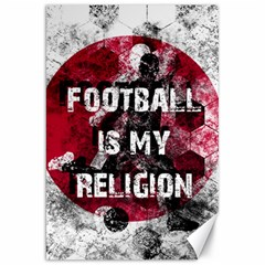 Football Is My Religion Canvas 20  X 30   by Valentinaart