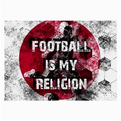 Football Is My Religion Large Glasses Cloth by Valentinaart