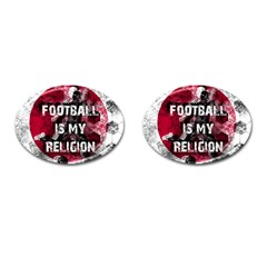 Football Is My Religion Cufflinks (oval) by Valentinaart