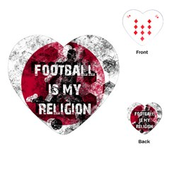 Football Is My Religion Playing Cards (heart)  by Valentinaart