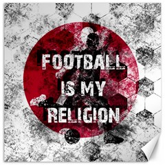 Football Is My Religion Canvas 20  X 20   by Valentinaart