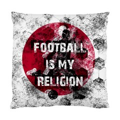 Football Is My Religion Standard Cushion Case (two Sides) by Valentinaart