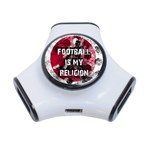 Football is my religion 3-Port USB Hub Front