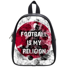 Football Is My Religion School Bag (small) by Valentinaart