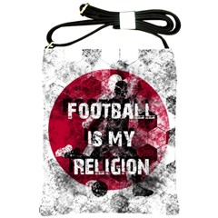 Football Is My Religion Shoulder Sling Bags by Valentinaart