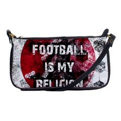Football Is My Religion Shoulder Clutch Bags by Valentinaart