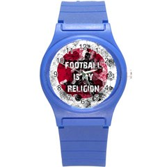 Football Is My Religion Round Plastic Sport Watch (s) by Valentinaart
