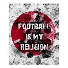 Football Is My Religion Shower Curtain 60  X 72  (medium)  by Valentinaart